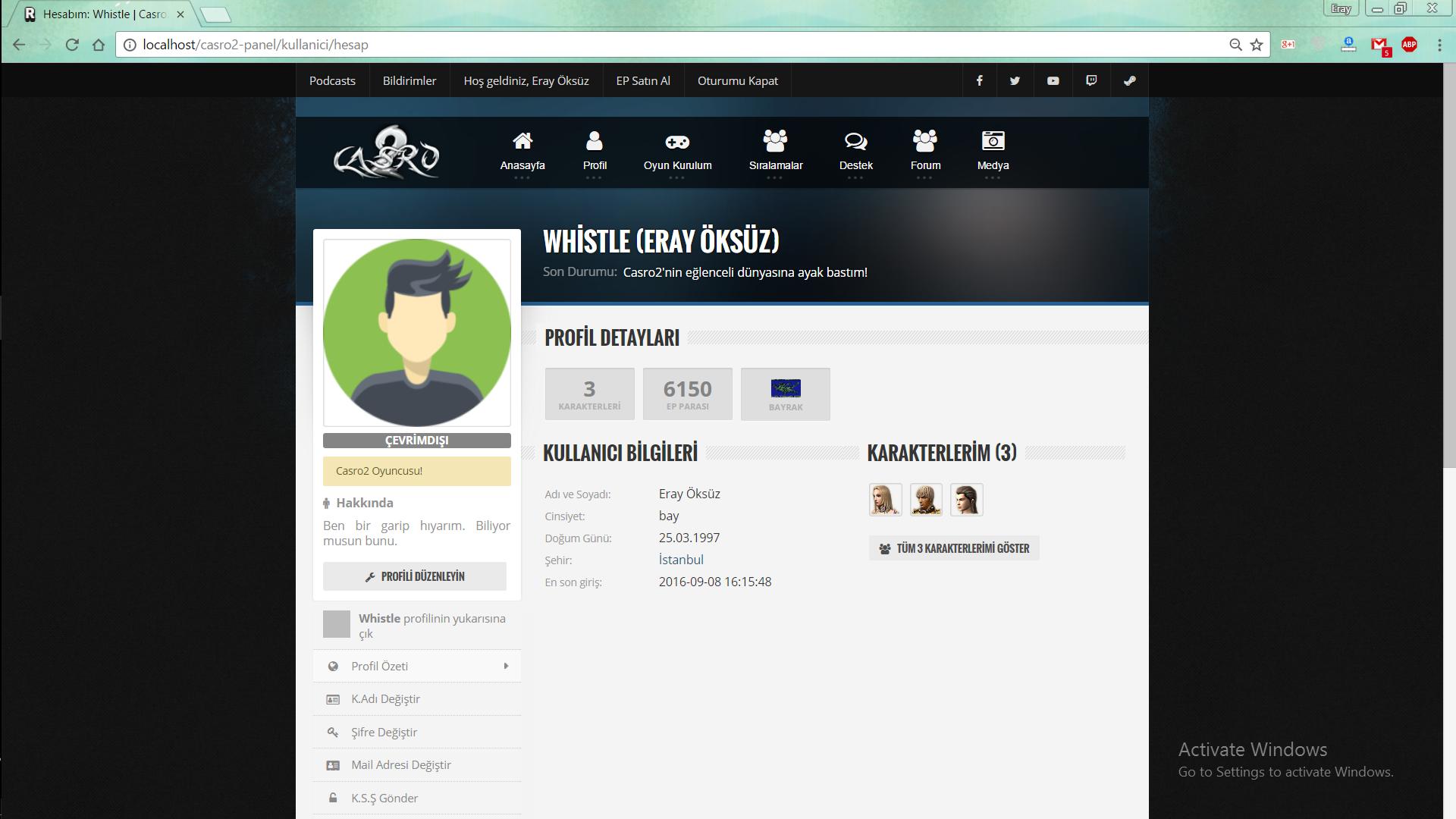 Kullanıcı Profili